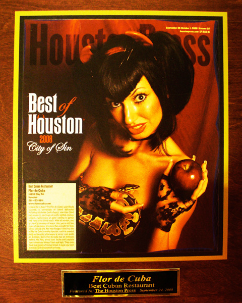 Houston Press award Best Cuban Restaurant - Flor de Cuba